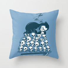 Grim Sleeper Throw Pillow