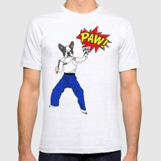 PAW POW - Kungfu Dog Mens Fitted Tee Ash Grey SMALL