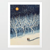 If On A Winter's Night Y… Art Print