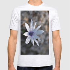 flower Mens Fitted Tee Ash Grey SMALL