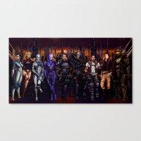Mass Effect - Team Of Aw… Canvas Print
