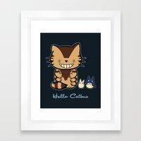 Hello Catbus Framed Art Print