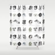 Dog Poster Shower Curtain