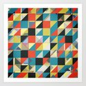 Imperfect Grid of Colors Art Print