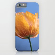 A spring wild yellow flower in blue background. Slim Case iPhone 6s