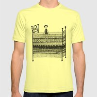 The Princess and the Pea Mens Fitted Tee Lemon SMALL
