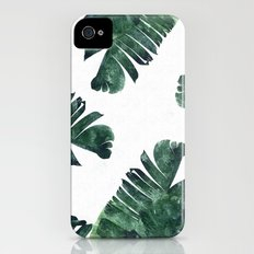 Banana Leaf Watercolor Pattern #society6 Slim Case iPhone (4, 4s)