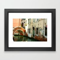 Canal Framed Art Print