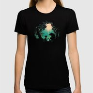 The Conversationalist Womens Fitted Tee Black SMALL