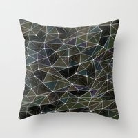 Abstract Digital Waves Throw Pillow
