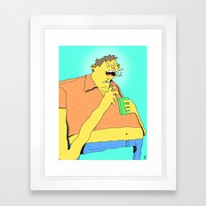 Barney Framed Art Print