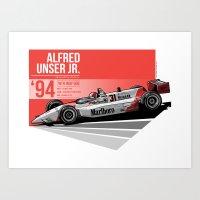 Al Unser Jr - 1994 Indianapolis Art Print