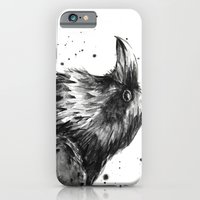 Raven Watercolor iPhone 6 Slim Case