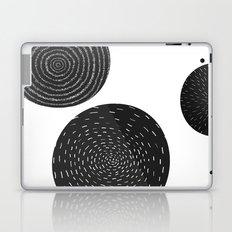 Back and White Retro Mod Flowers by Friztin Laptop & iPad Skin