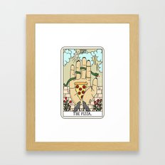 PIZZA READING Framed Art Print