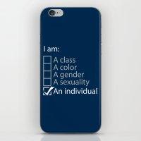 I Am An Individual. iPhone & iPod Skin