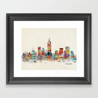 Indianapolis Indiana Sky… Framed Art Print