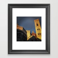 When in Florence Framed Art Print