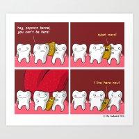 Popcorn Kernel Art Print