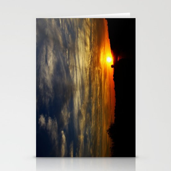 Colorful sunset Stationery Card