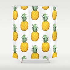Big Pineapples Shower Curtain