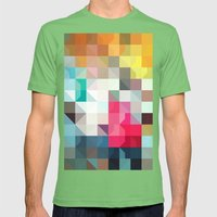color story - pixelated warfare Mens Fitted Tee Grass SMALL