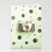 Camera On Buttons (Retro… Stationery Cards
