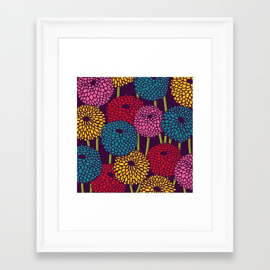 Full of Chrysant Framed Art Print