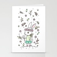 Summer Bunny Stationery Cards