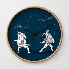 Fencing at a higher Level Wall Clock