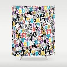 Alpha Pattern Shower Curtain