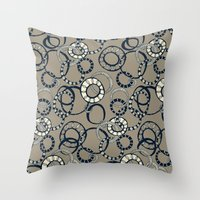 Honolulu hoopla light brown Throw Pillow