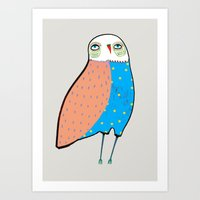 The Owl. Art Print