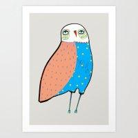 The Owl. Art Print