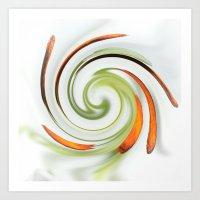 Lily Stamen Twirled Art Print
