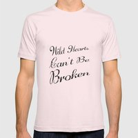 Wild Hearts Mens Fitted Tee Light Pink SMALL