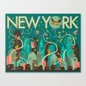 WILD NEW YORK Canvas Print