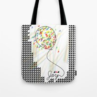 Tote Bag featuring joy by Inspire me Print