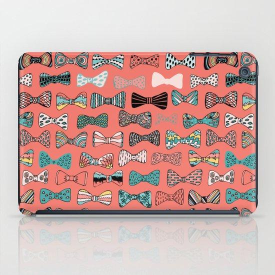 Bow tie geek in pink iPad Case