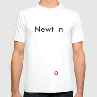 Newton Mens Fitted Tee White SMALL