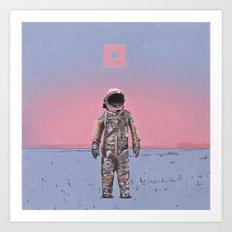Pink Square Art Print