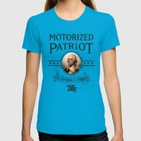 Bioshock Motorized Patri… Womens Fitted Tee Teal SMALL
