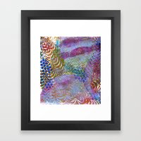 Feathered Ripples Framed Art Print