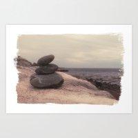 Rock Pile I Art Print
