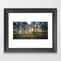 The Long Shadows Framed Art Print