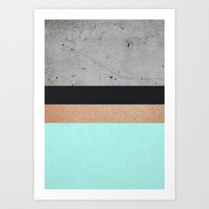 Abstract Turquoise Pattern Art Print