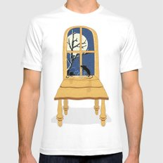 Window Seat Mens Fitted Tee White SMALL