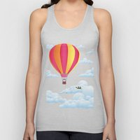 Picnic In A Balloon On A… Unisex Tank Top