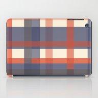 Orange And Blue Stripes iPad Case