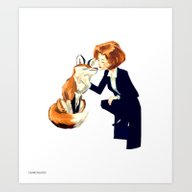 Art Print featuring Trust Of The Fox by Tumblebuggie